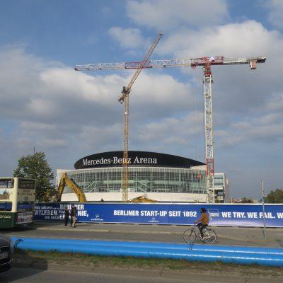 Berlin pod Areną ja wielki plac budowy.